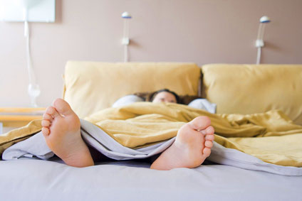 One of the ways to stop leg cramps is to untuck the bed sheets on the bottom.