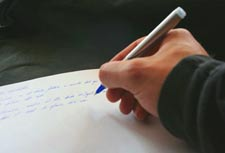 How to fall asleep tip #3: write down your thoughts, clear your mind, and de-stress.