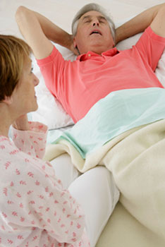 What is sleep apnea, asks the wife, who watches her husband have breathing problems.
