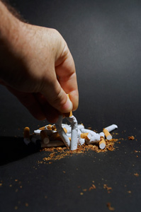 Stopping smoking will help with snoring