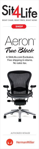 The Aeron True Black may be the best ergonomic chair for back pain.