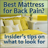 Have back pain? Then you must read this article about what to look for when buying a new mattress.