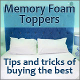 A memory foam topper might help you sleep better. Read our article on what to look for when buying one.