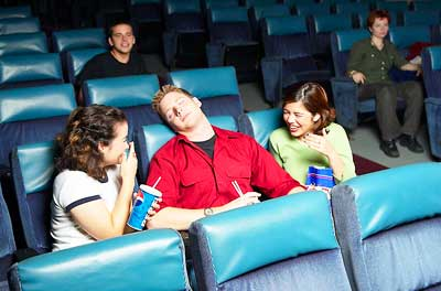 Teen asleep at theater due to sleep deprivation symptoms